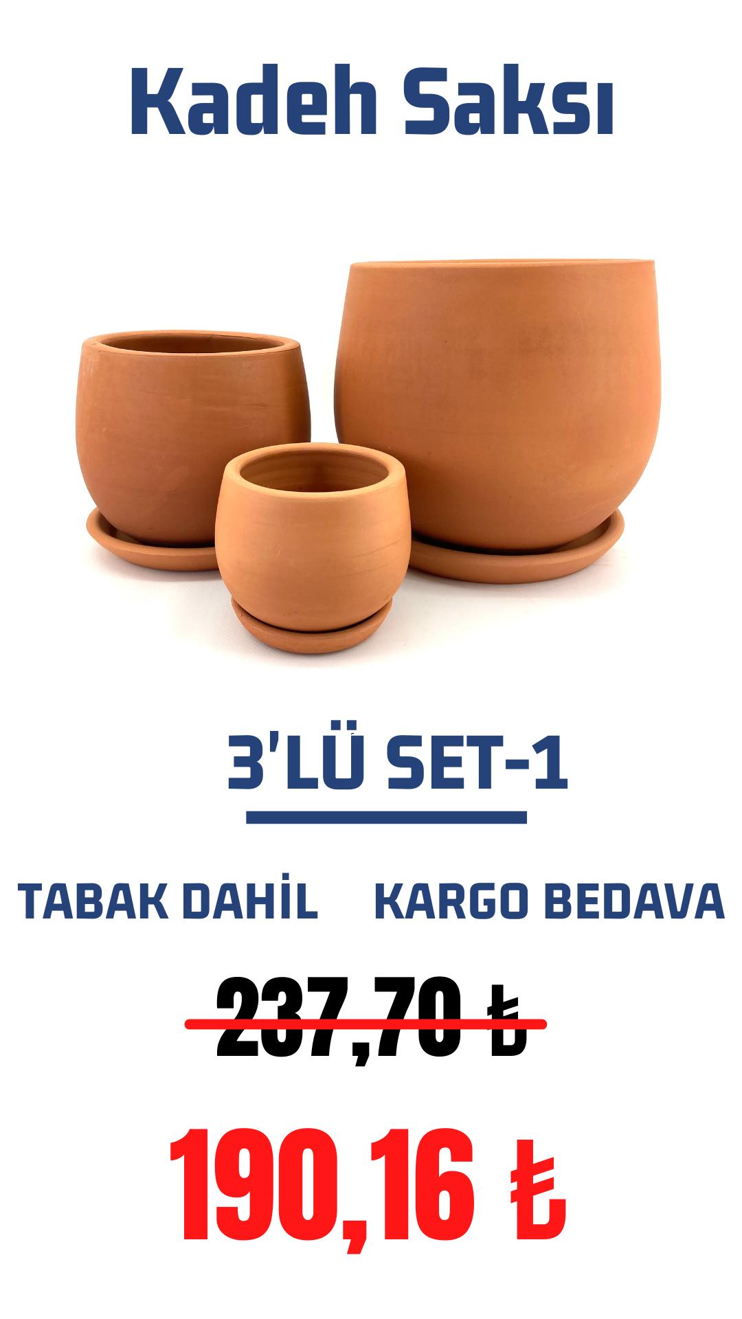Kadeh 3'lü Set-1