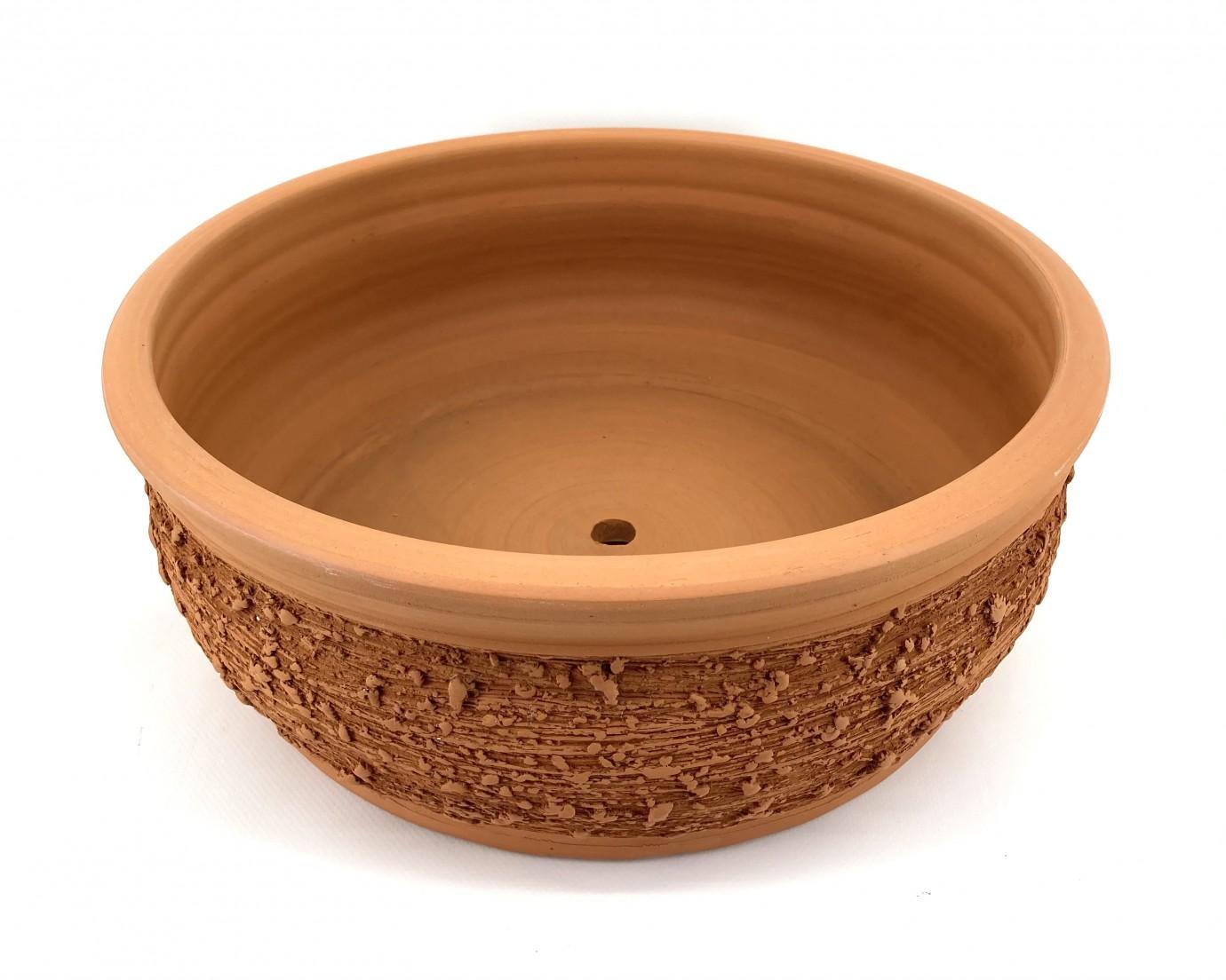 Taraklı Bonsai Saksısı 38X15-Bonsai Çanak Taraklı Bombeli
